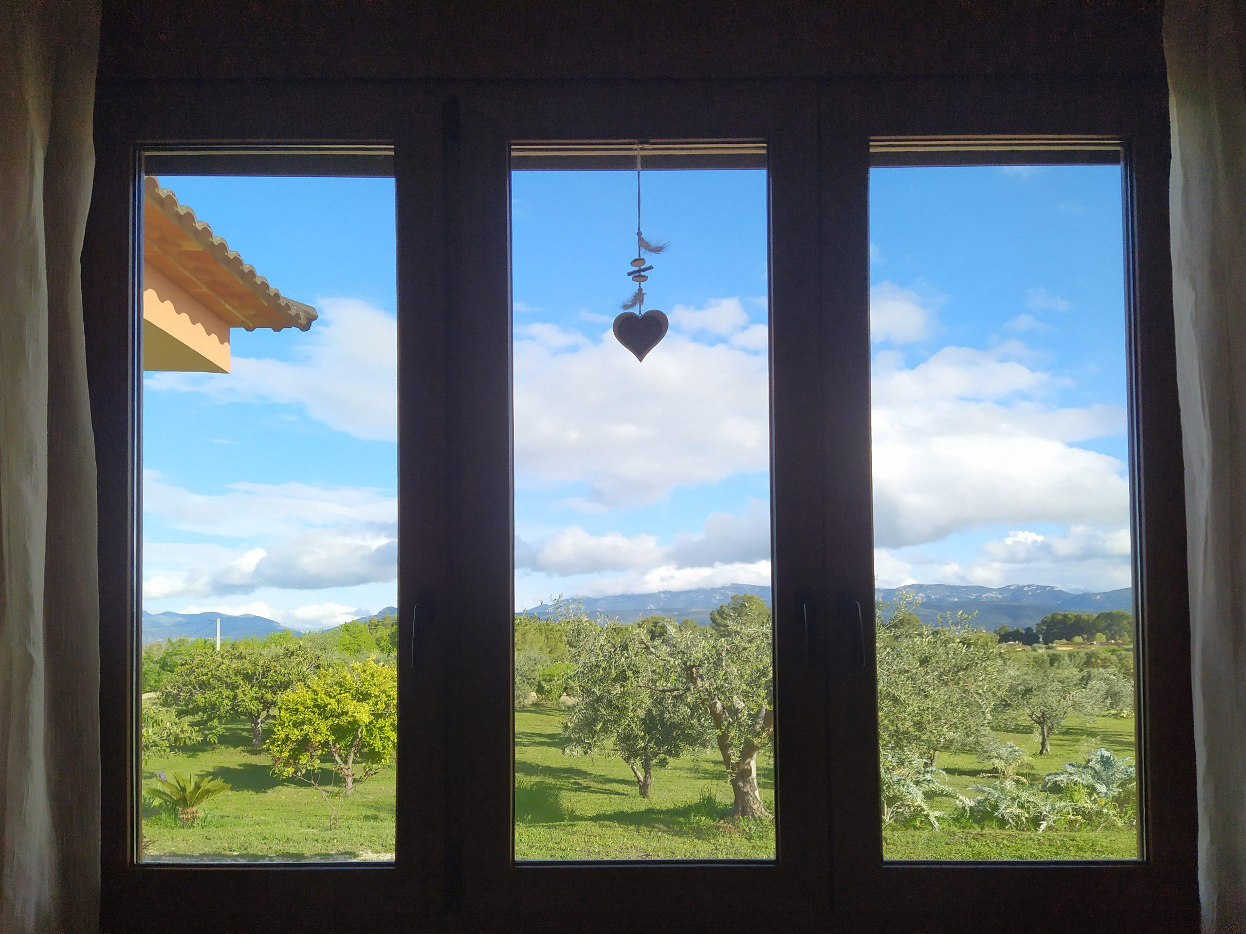 Salir de viaje, mirando por la ventana
